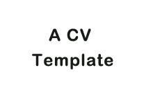A CV Template